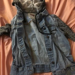 Jean Jacket w/ Sweater Sleeves